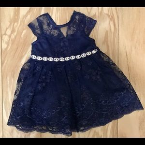 Navy blue (12 mos.) dress only worn once